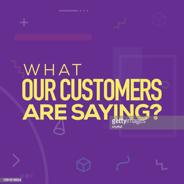 what our customers are saying. inspiring creative motivation quote poster template. vector typography - illustration - testimonial stock illustrations, clip art, cartoons, & icons