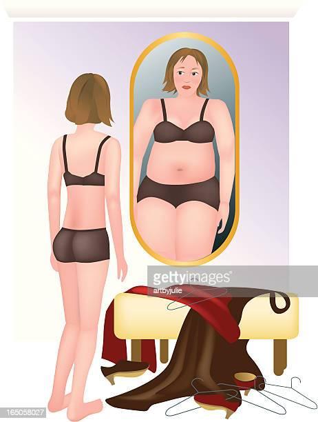 ilustraciones, imágenes clip art, dibujos animados e iconos de stock de de lo que se ve - bulimia
