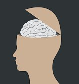 What's inside human head. Creativity, emotions and thinking concept vector illustration.