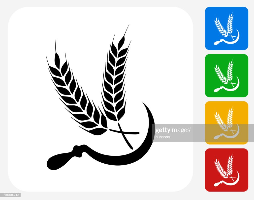 Wheat Icon Flat Graphic Design High-Res Vector Graphic ...