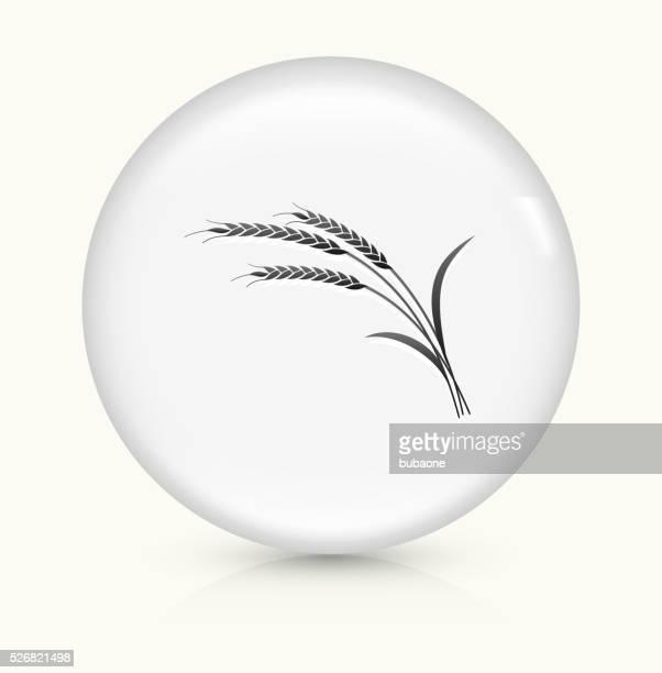Wheat icon on white round vector button