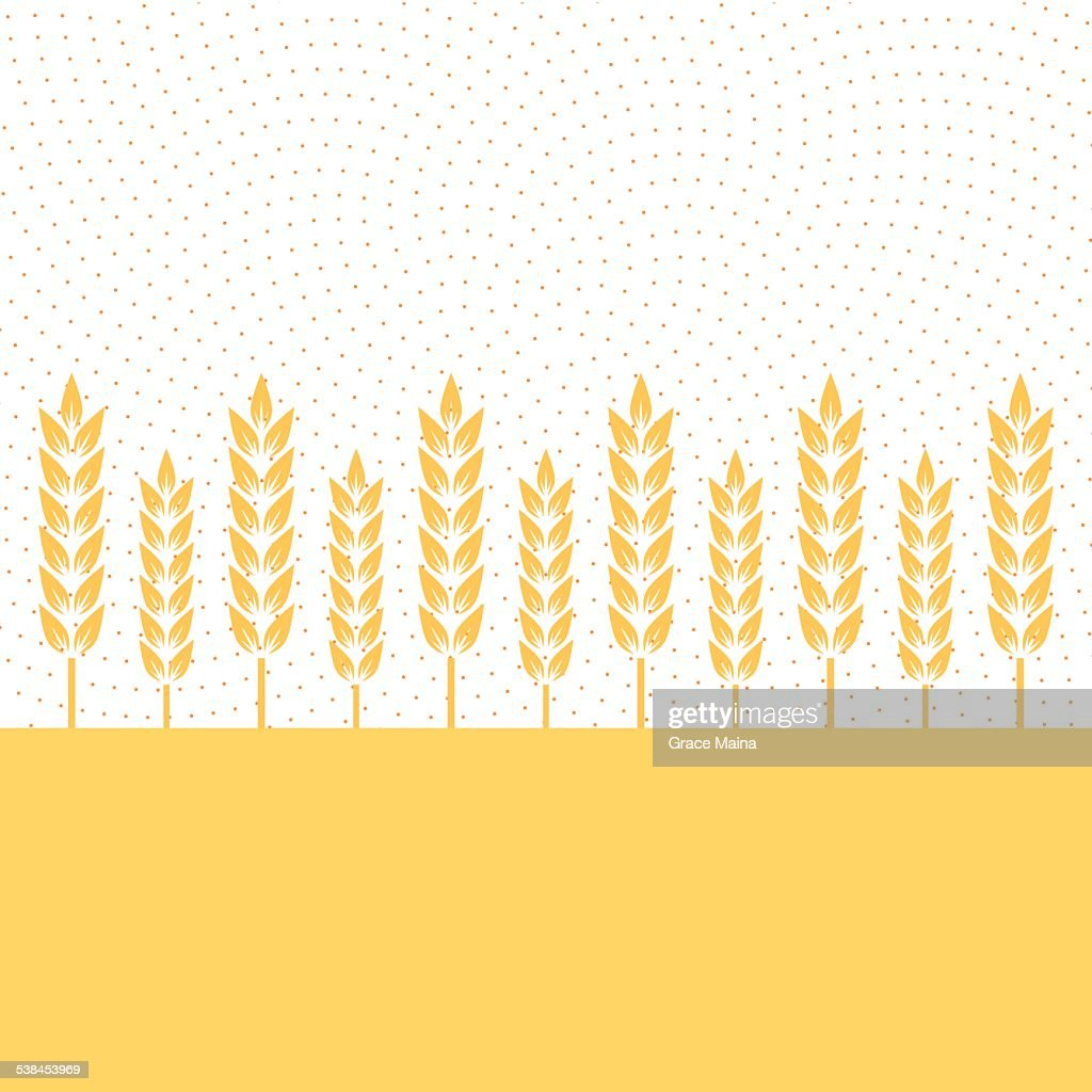 Wheat plantation - VECTOR : Stock Illustration