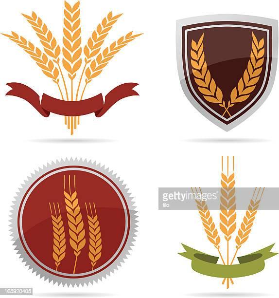 wheat - fiber stock illustrations, clip art, cartoons, & icons