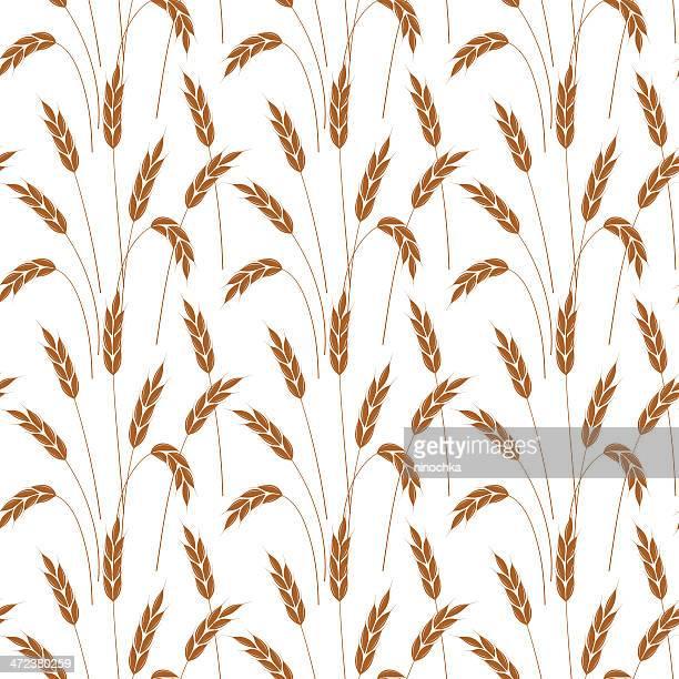 wheat wallpaper - barley stock illustrations, clip art, cartoons, & icons