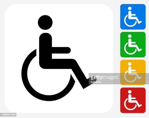 Wheel Chair User Icon Flat Graphic Design