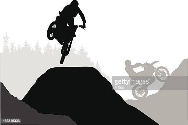 ilustraciones, imágenes clip art, dibujos animados e iconos de stock de wheelcrossing - motocross
