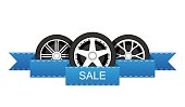 Wheel disk discount banner.