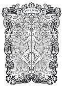 Wheel of fortune. Major Arcana tarot card