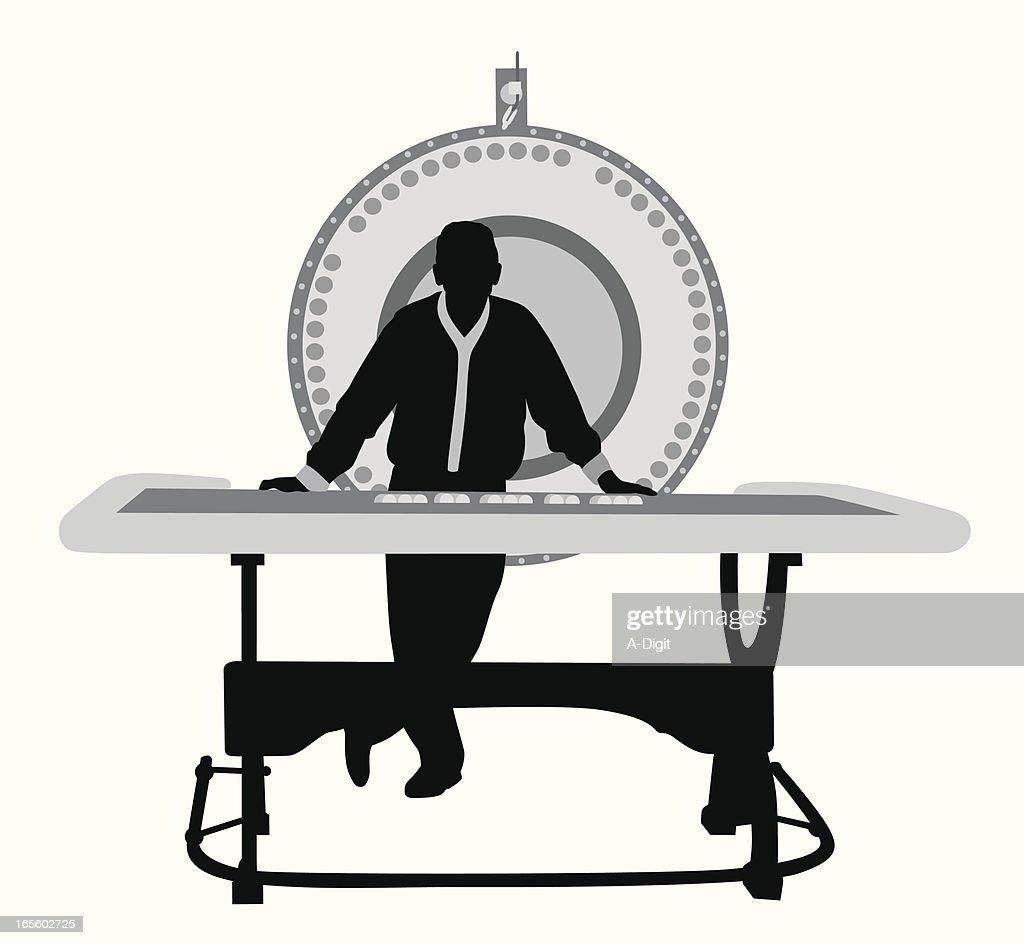 Wheel of Fortune Vector Silhouette : stock illustration