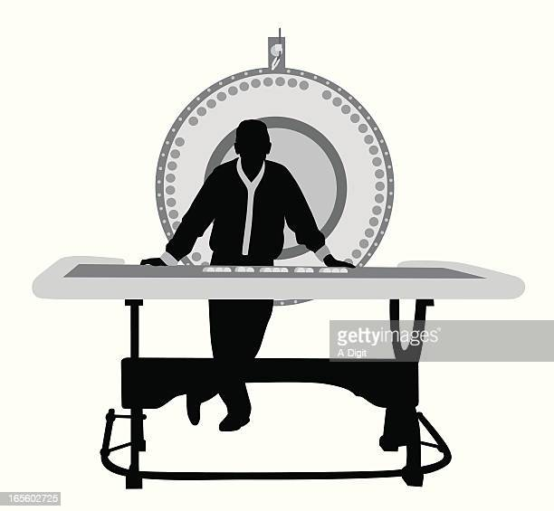 Wheel of Fortune Vector Silhouette