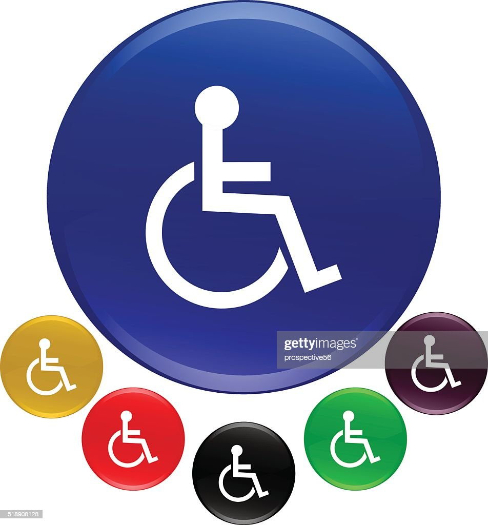 Wheelchair accessible icon vector illustration in 3D colorful bakground