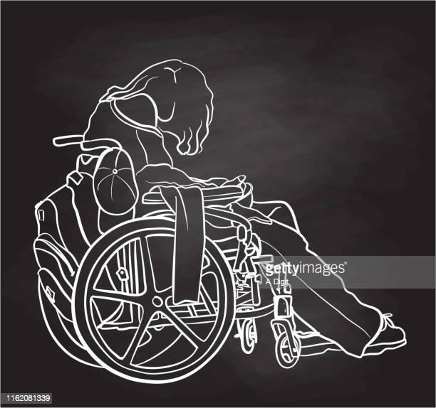 Wheelchair Bound MS Chalkboard