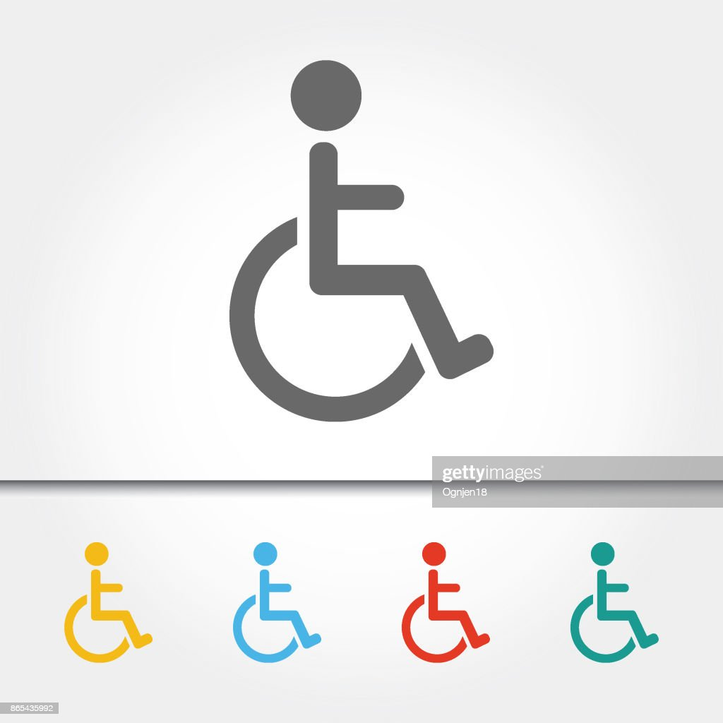 Wheelchair Disability Sign Single Icon Vector Illustration