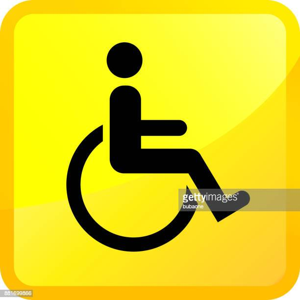 wheelchair disability sign. - disabled access stock illustrations, clip art, cartoons, & icons