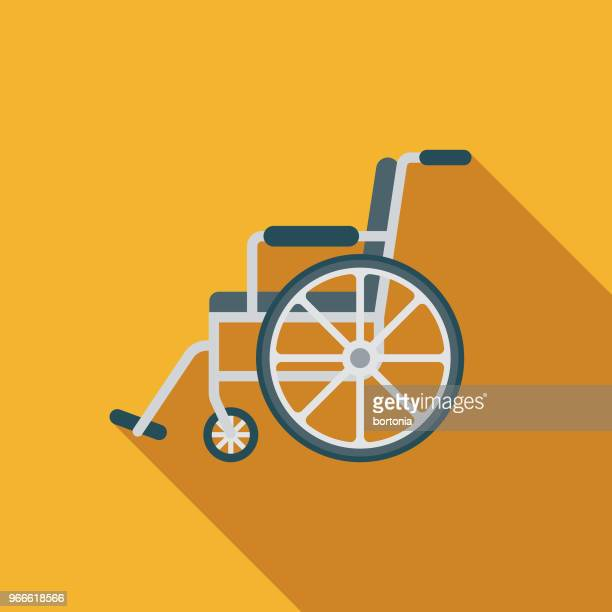 Wheelchair Flat Design Emergency Services Icon
