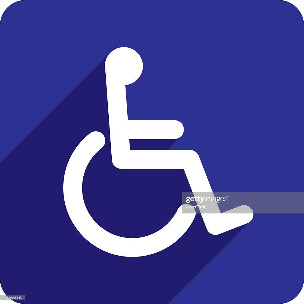 Wheelchair Icon Silhouette : Stock Illustration