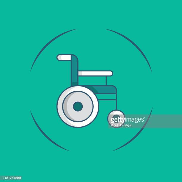 wheelchair isolated icon - paralysis stock illustrations, clip art, cartoons, & icons