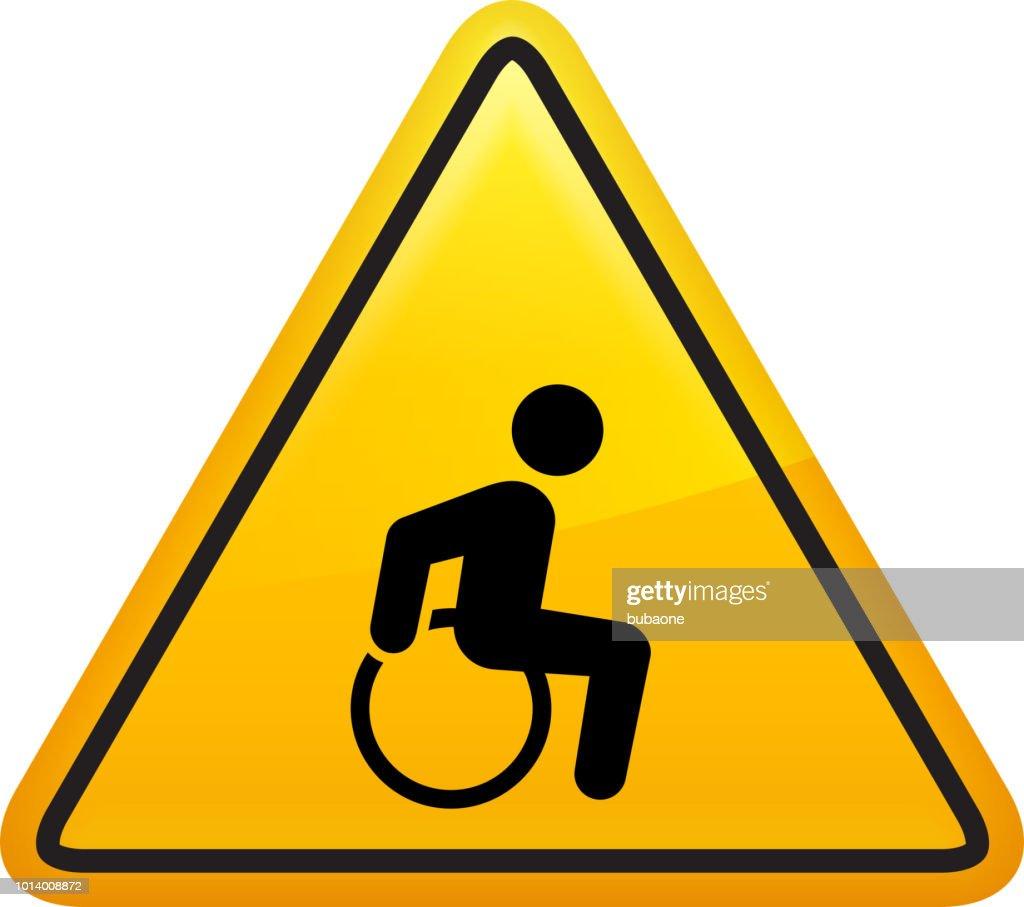 Wheelchair Man Disability Icon : stock illustration