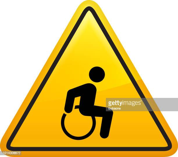 wheelchair man disability icon - disabled access stock illustrations, clip art, cartoons, & icons