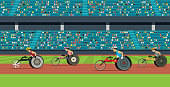 Wheelchair Race of the Disabled