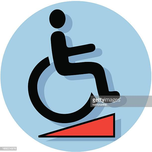 Icono de rampa para silla de ruedas