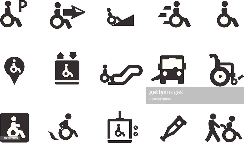 Wheelchair Symbols : stock illustration