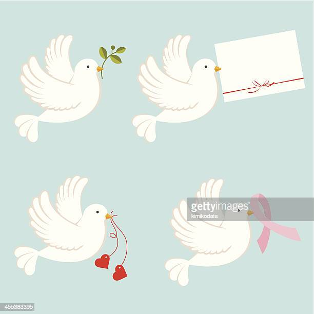 dove - easter sunday stock illustrations