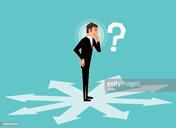 which way - lost stock illustrations, clip art, cartoons, & icons