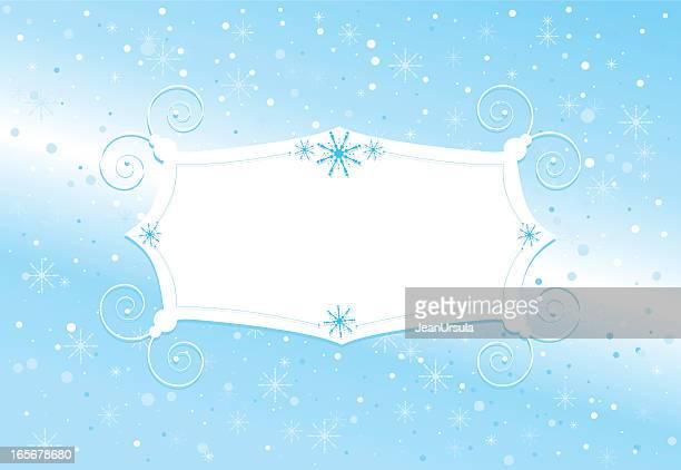 一風変わった冬の結晶のサイン - 飾り板点のイラスト素材/クリップアート素材/マンガ素材/アイコン素材