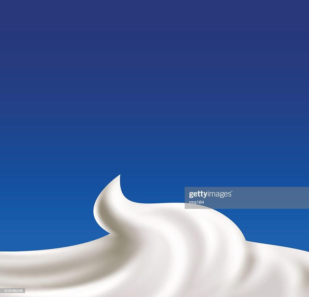 Whipped cream vector