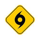 Whirlwind sign. Tornado. Hurricane. Hurricane - storm. White background. Vector illustration