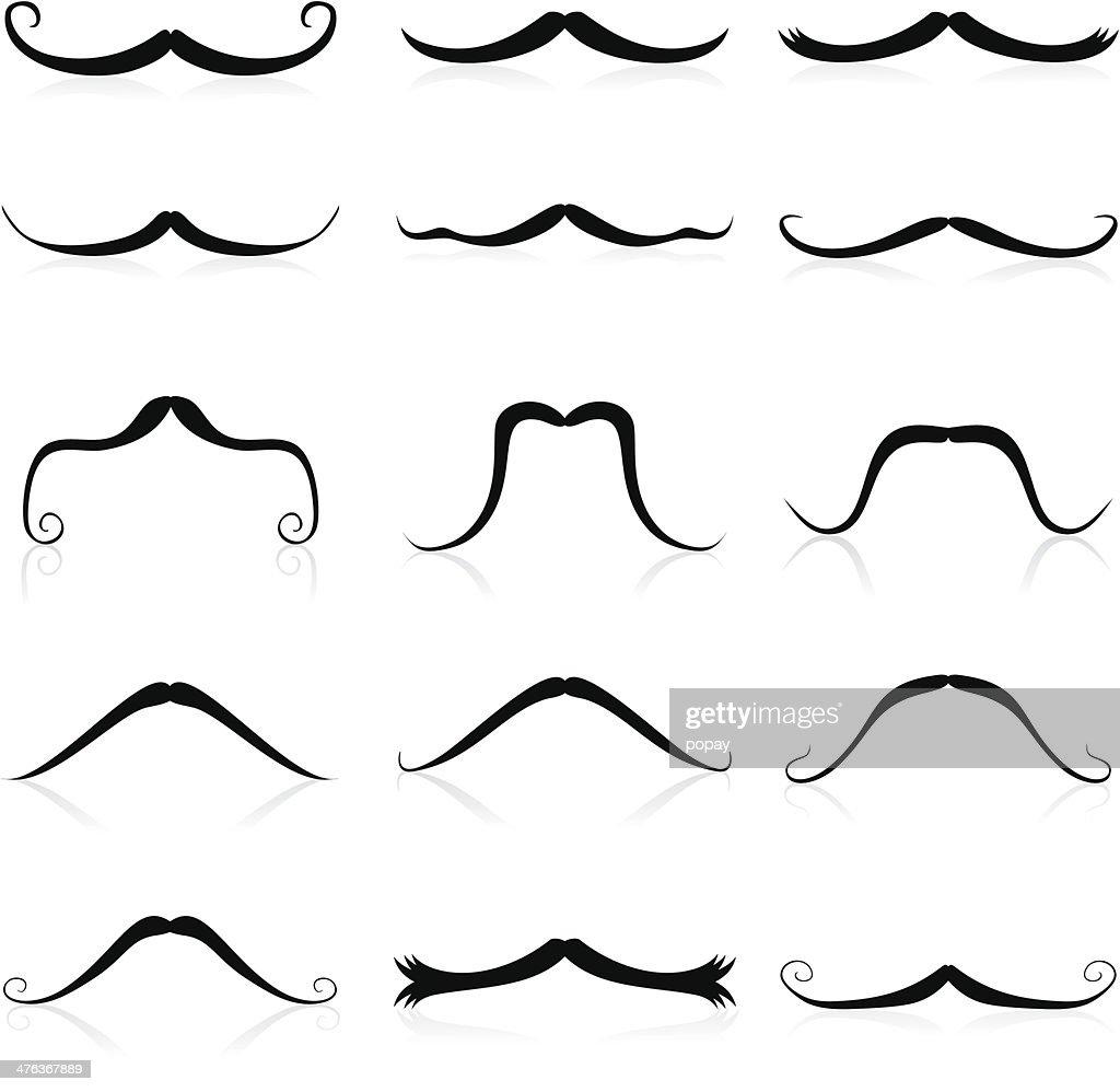 Whiskers silhouette : stock illustration