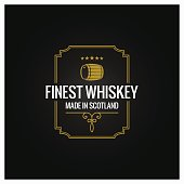 whiskey emblem dark label design background