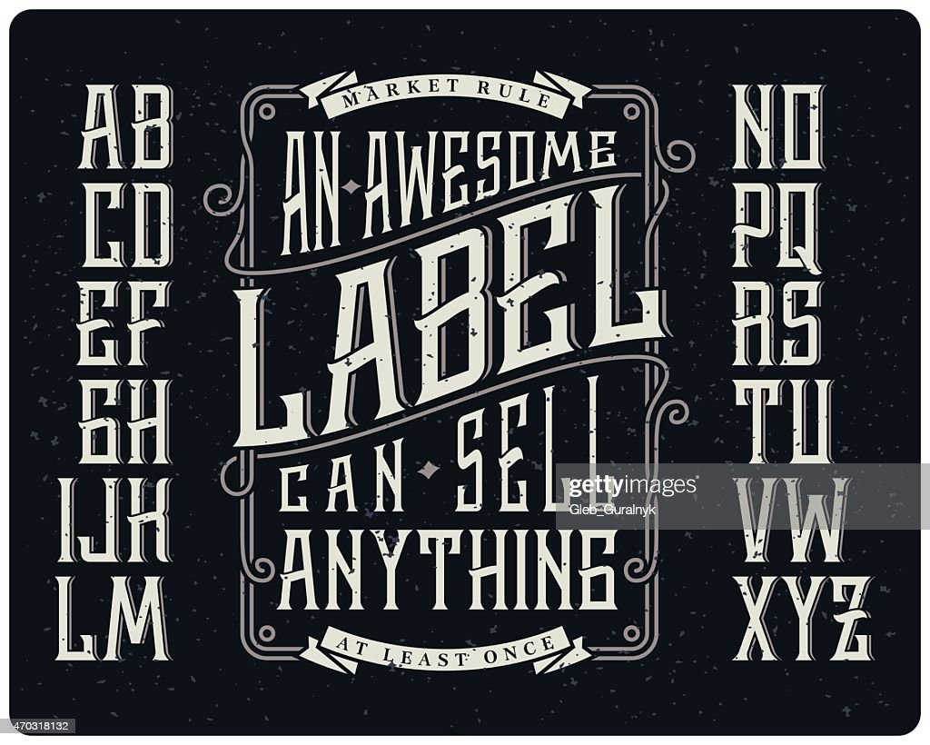 Whiskey style typeface set