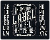 Whiskey style typeface set
