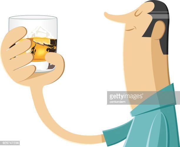 whiskey toast - scotch whiskey stock illustrations, clip art, cartoons, & icons