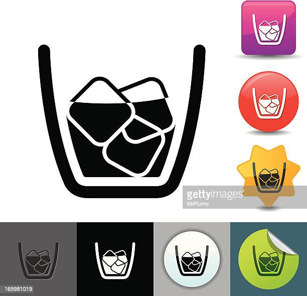 whisky glass icon | solicosi series - brandy stock illustrations, clip art, cartoons, & icons