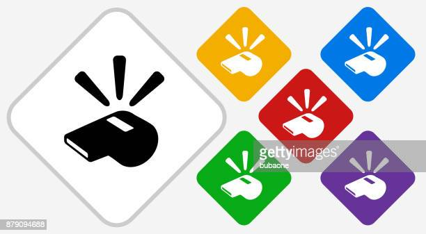 Whistle Color Diamond Vector Icon