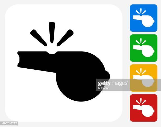 Whistle Icon Flat Graphic Design