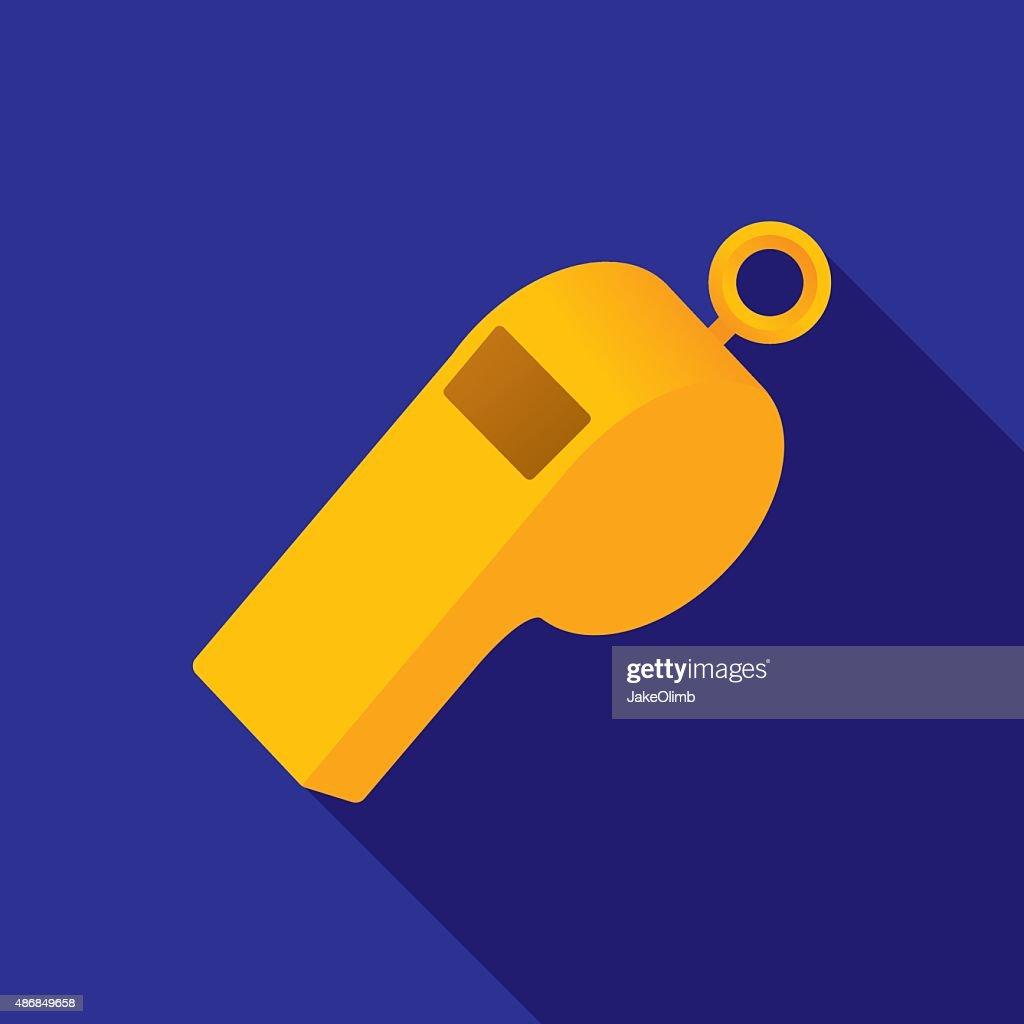 Whistle Icon Flat : stock illustration