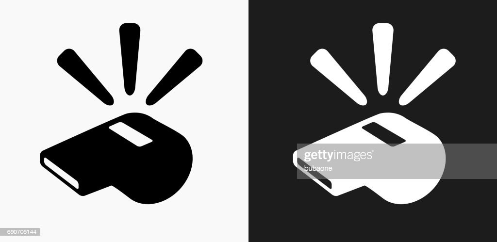 Whistle Icon on Black and White Vector Backgrounds : stock illustration
