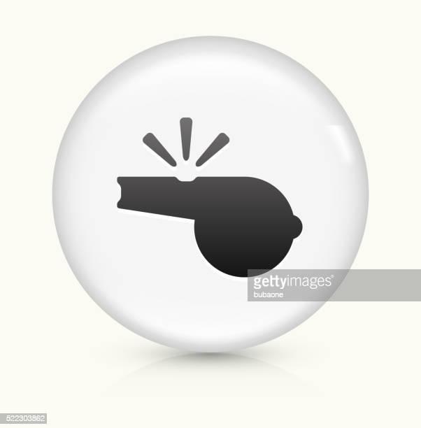 Whistle icon on white round vector button
