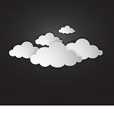 whit clouds - illustration