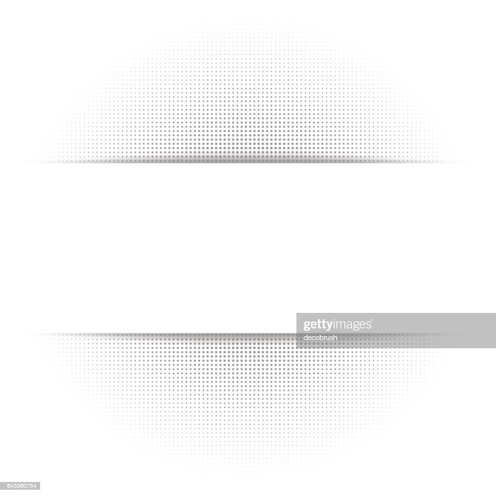 White abstract background, gray geometric halftone texture, paper shadow