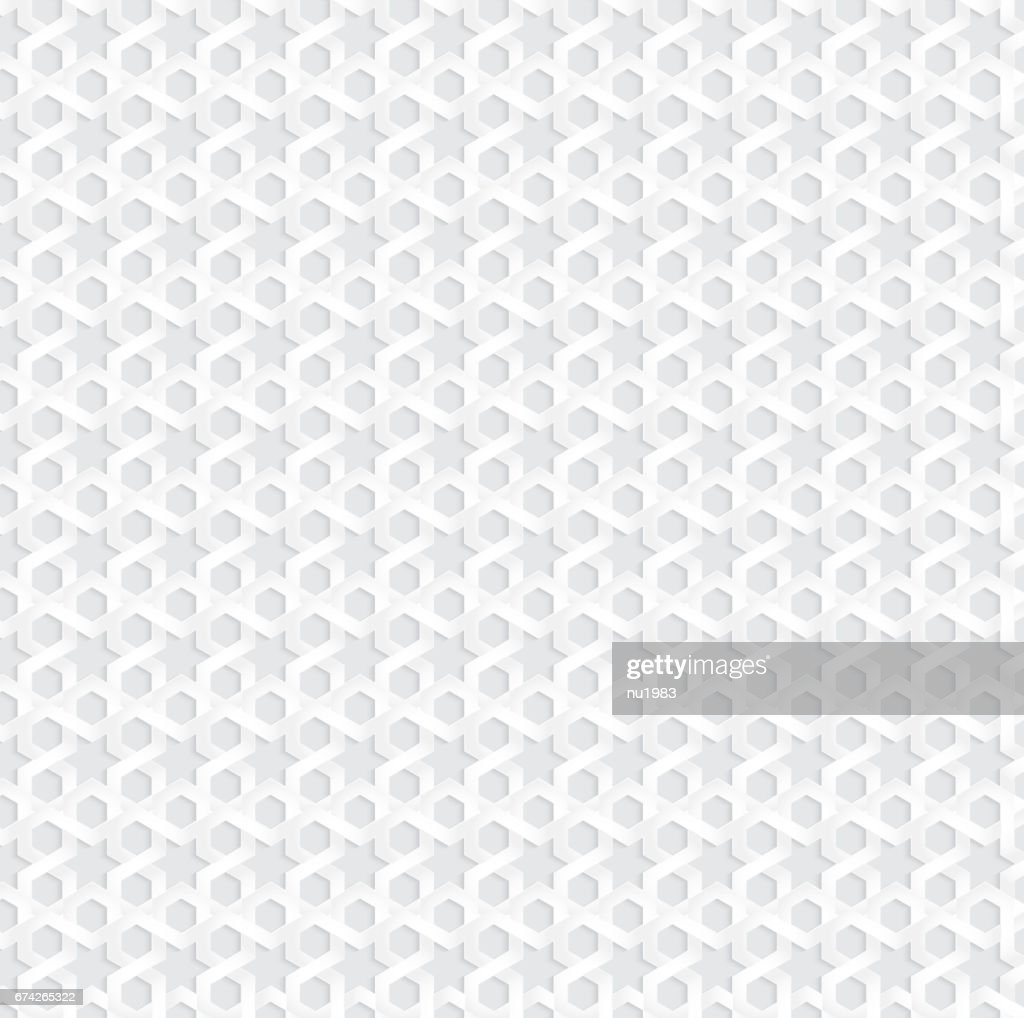 White abstract traditional Arabian pattern