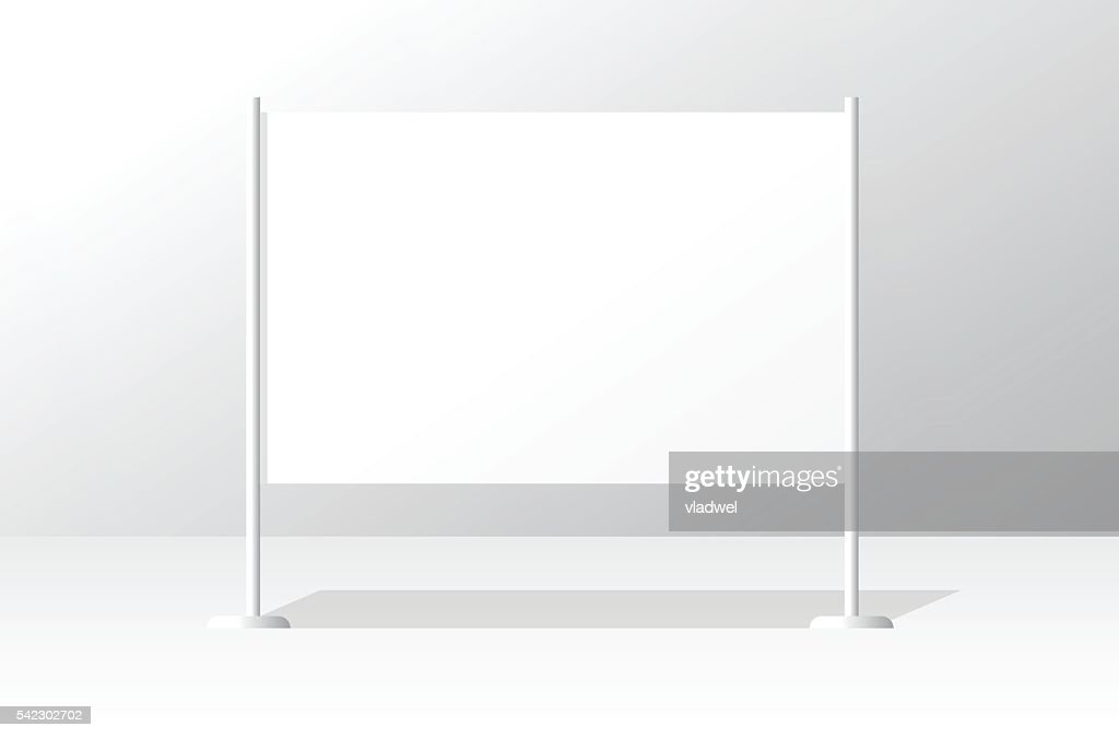 White advertising stand board empty banner template, signboard advertisement billboard