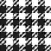 White and Black Buffalo Check Plaid Seamless Pattern