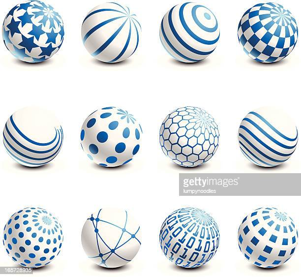 white and blue spheres - wire mesh stock illustrations
