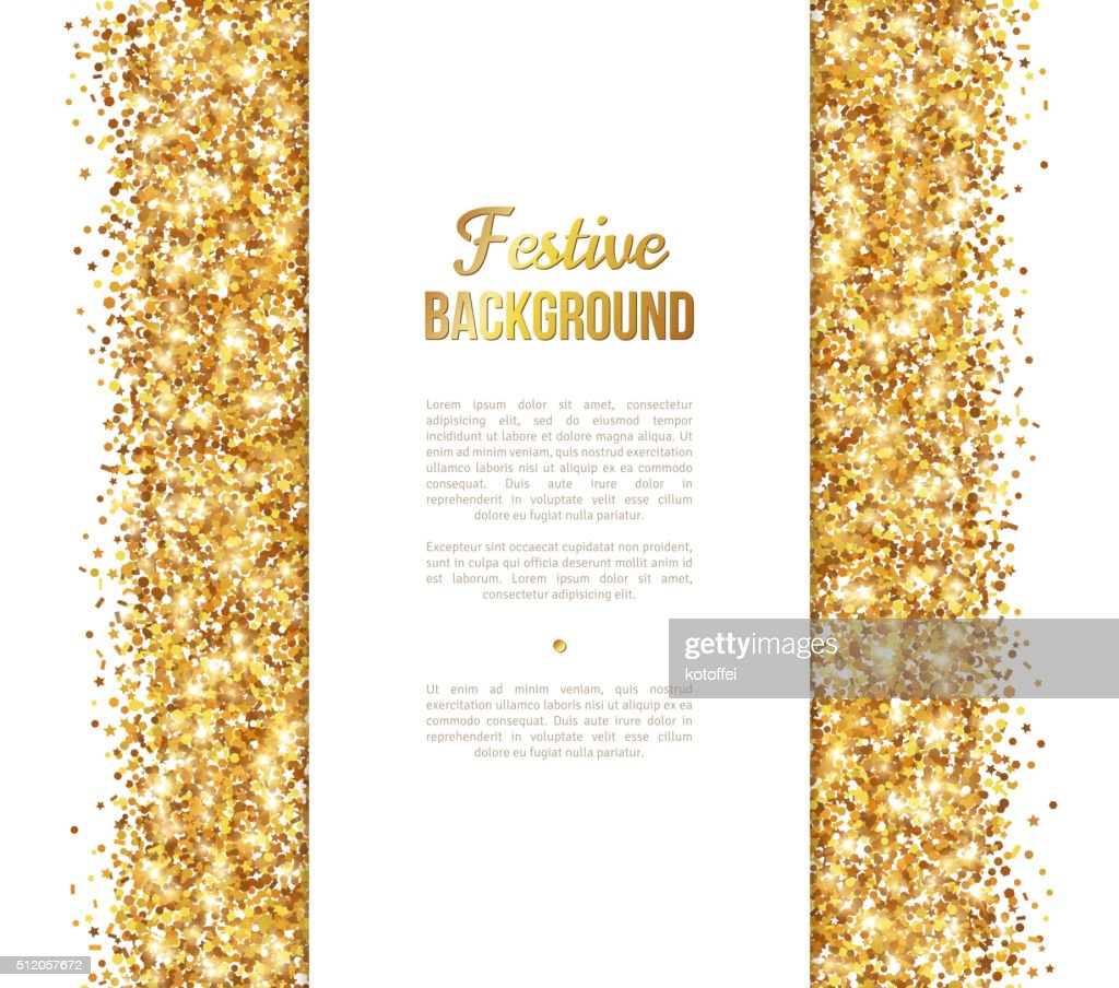 White and Gold Banner, Greeting Card Design