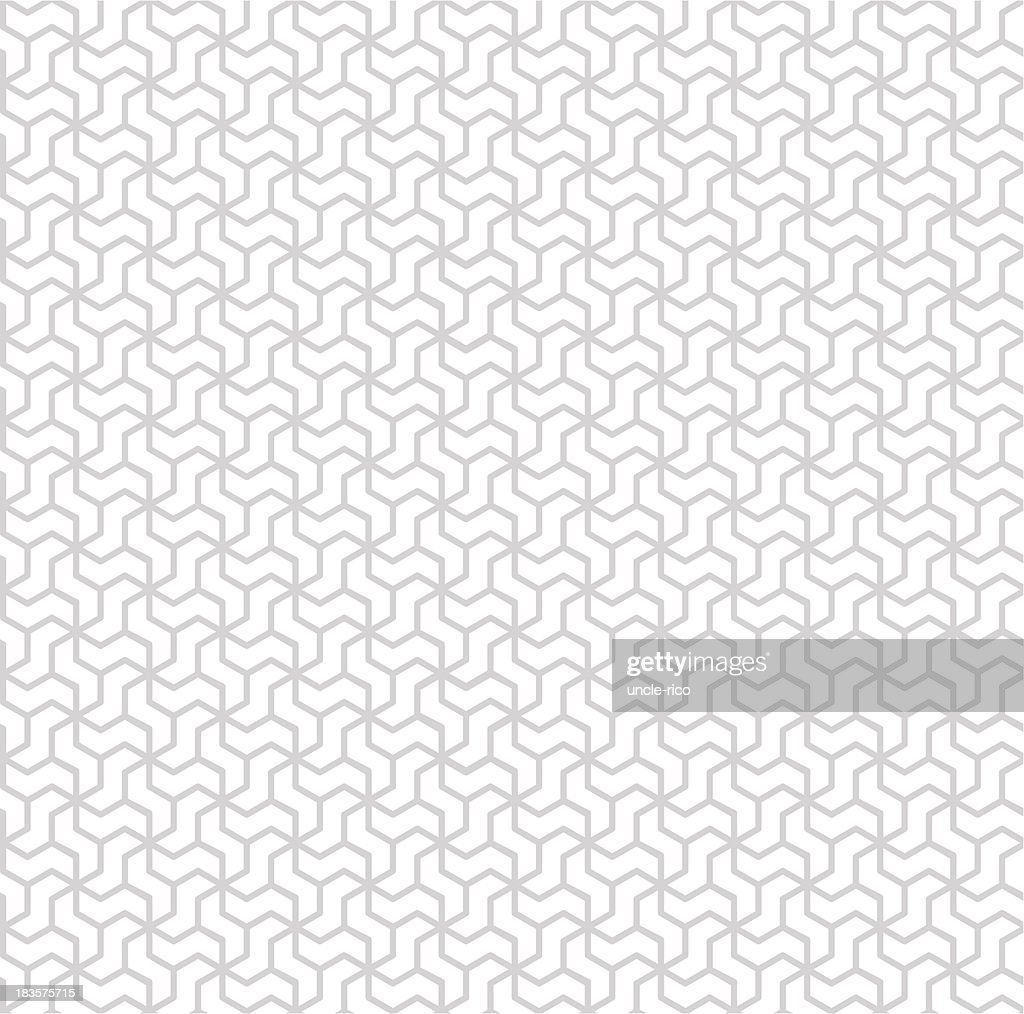 White and gray rhombic seamless pattern : Vector Art